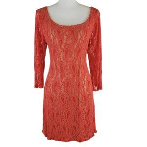 LIBERTY LOVE Lace & Fully Lined Dress, Size 1X